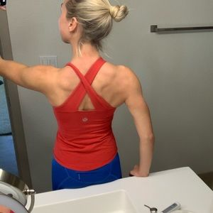 Lululemon Red Crossback Tank